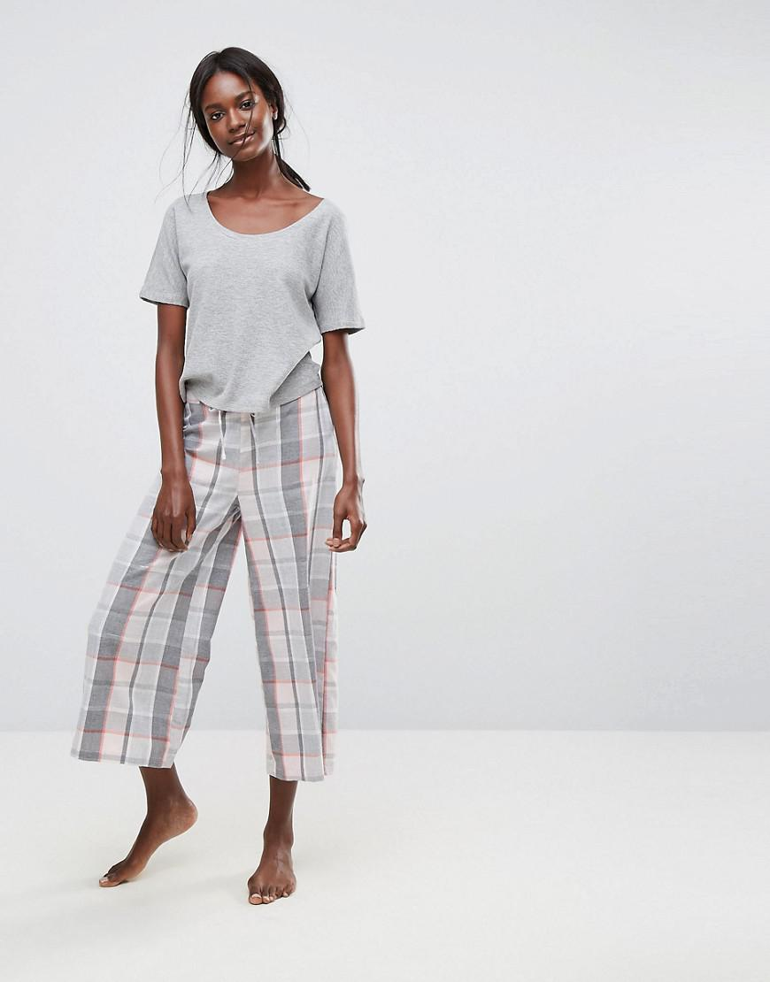 lazy days off the shoulder sweat and cullotte pajama pant