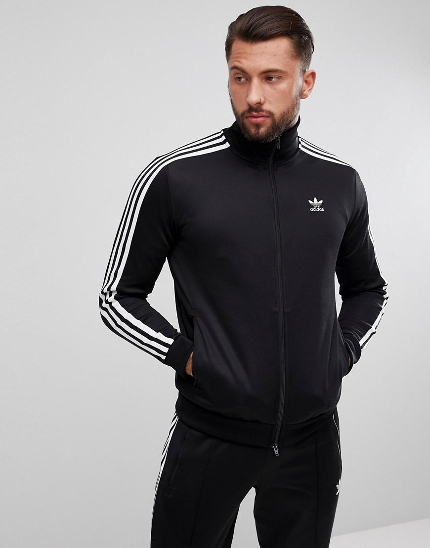 adidas originals adicolor beckenbauer track jacket in black cw1250
