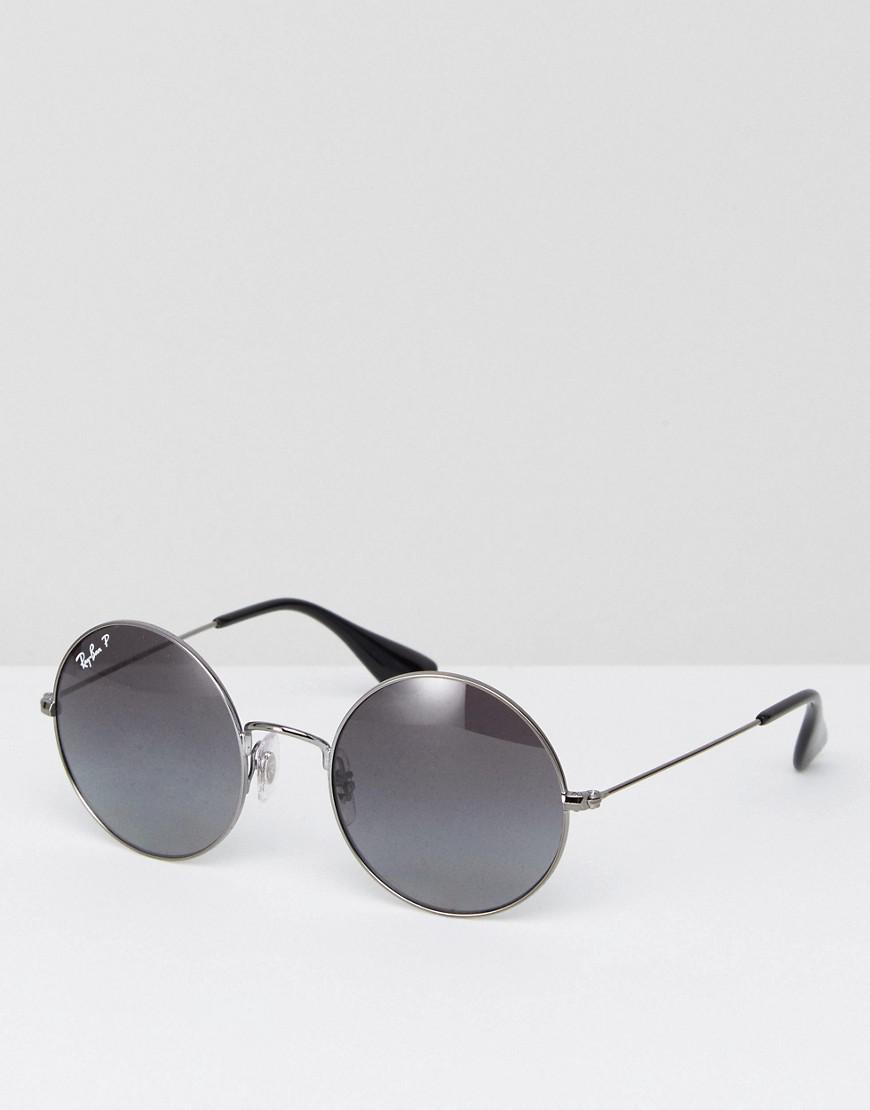 ray-ban round jajo sunglasses with polarised lens