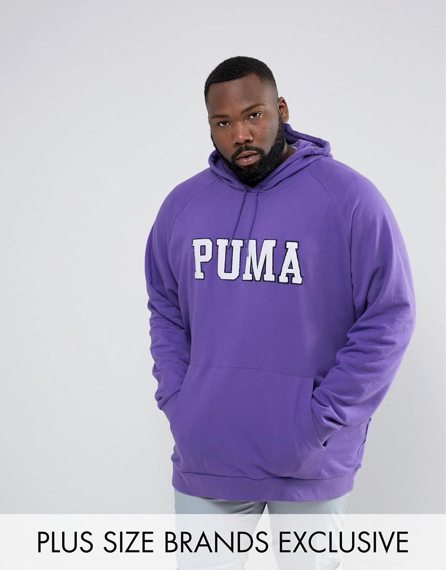 puma plus skate hoodie with large logo in purple exclusive to asos 57659001