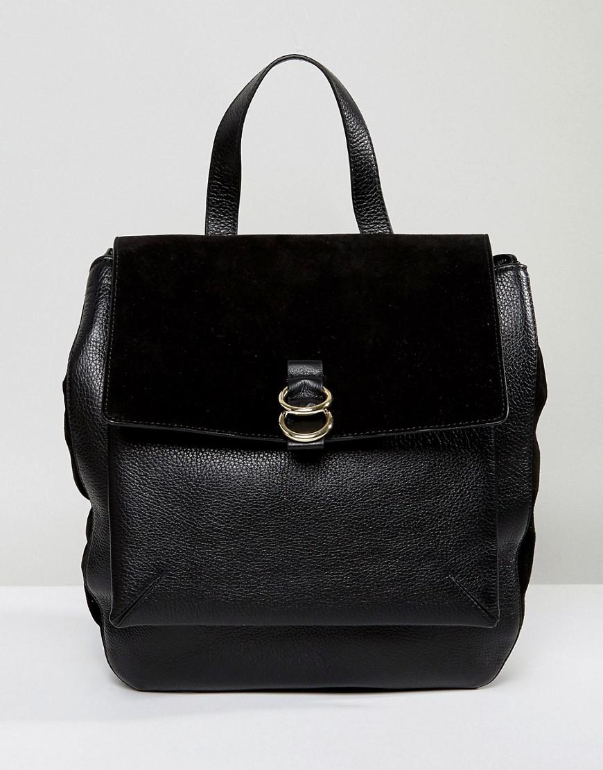 whistles leather and suede ring backpack