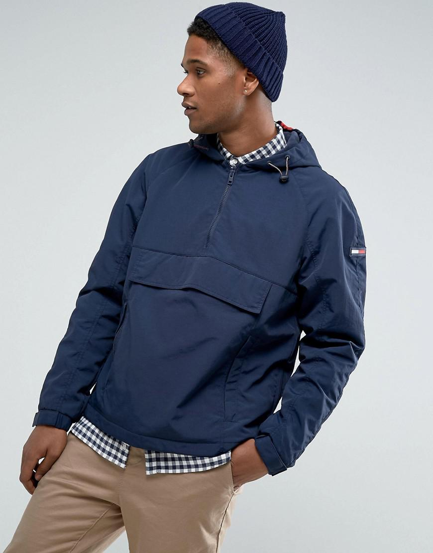 196978ab7fd76 Fashion clothing | Tommy Hilfiger Denim Overhead Jacket Icon Stripe Hood In  Navy | Modysta