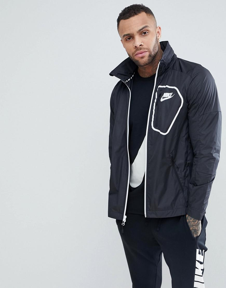 top quality the best new high quality Nike Av15 Woven Track Jacket In Black 885929010