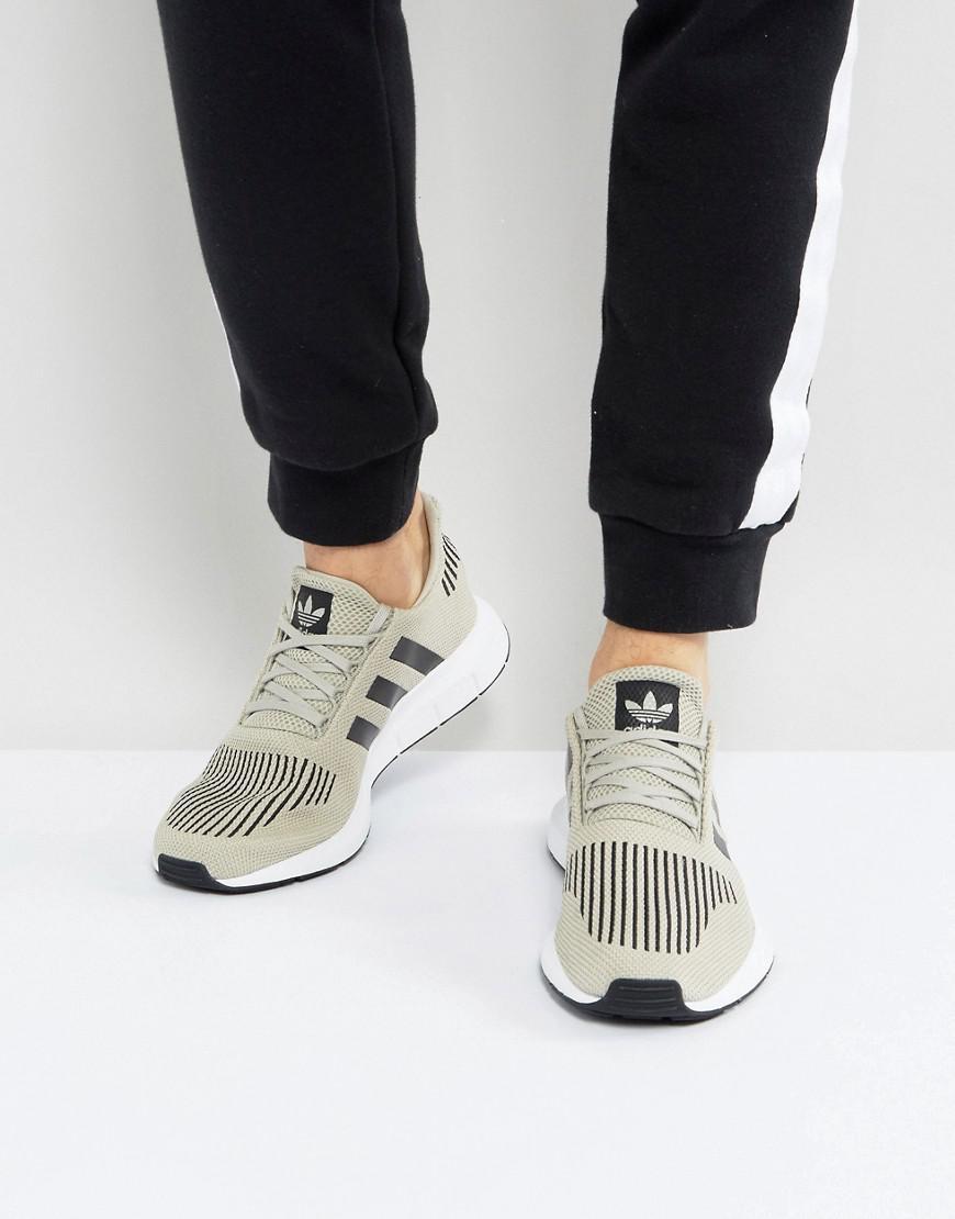 adidas originals swift run sneakers in beige cg4114