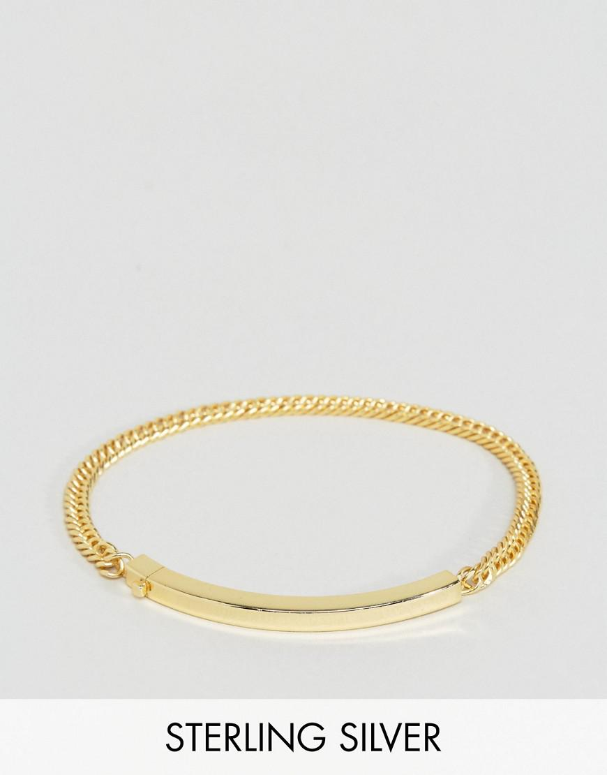 serge denimes id bracelet in solid silver with gold plating