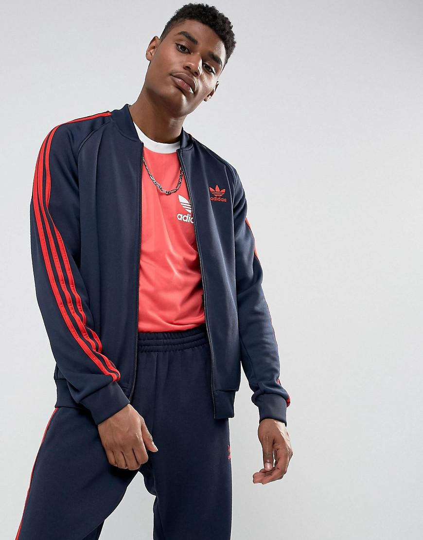 e7645572348cde adidas originals superstar track jacket in navy bs2659