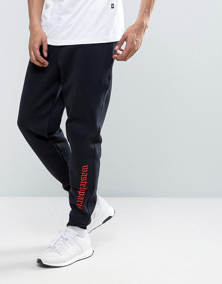 wasted paris joggers with embroidered logo in slim fit