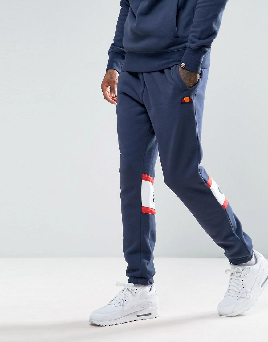 ellesse joggers with panel logo