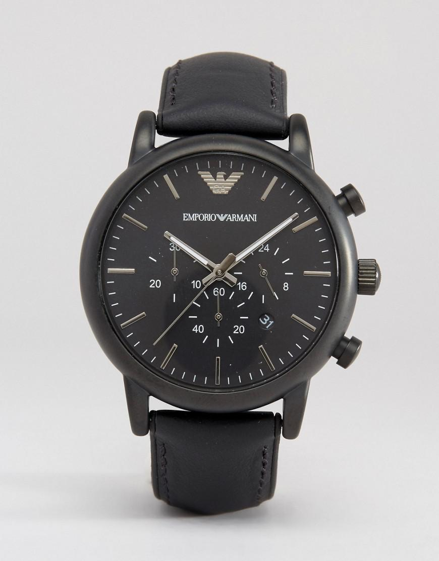 emporio armani chronograph silicone lined watch ar1970