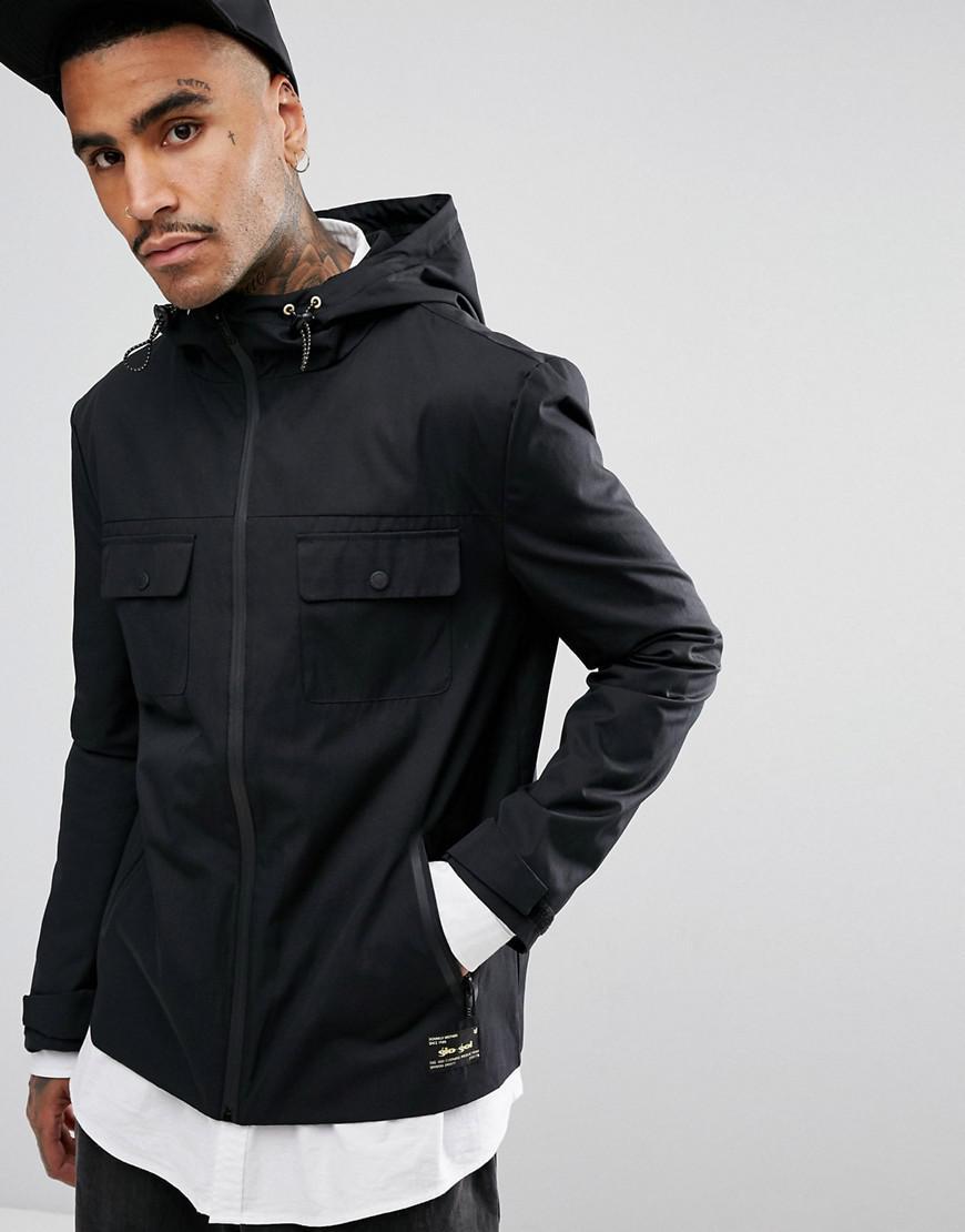gio goi hooded jacket in black