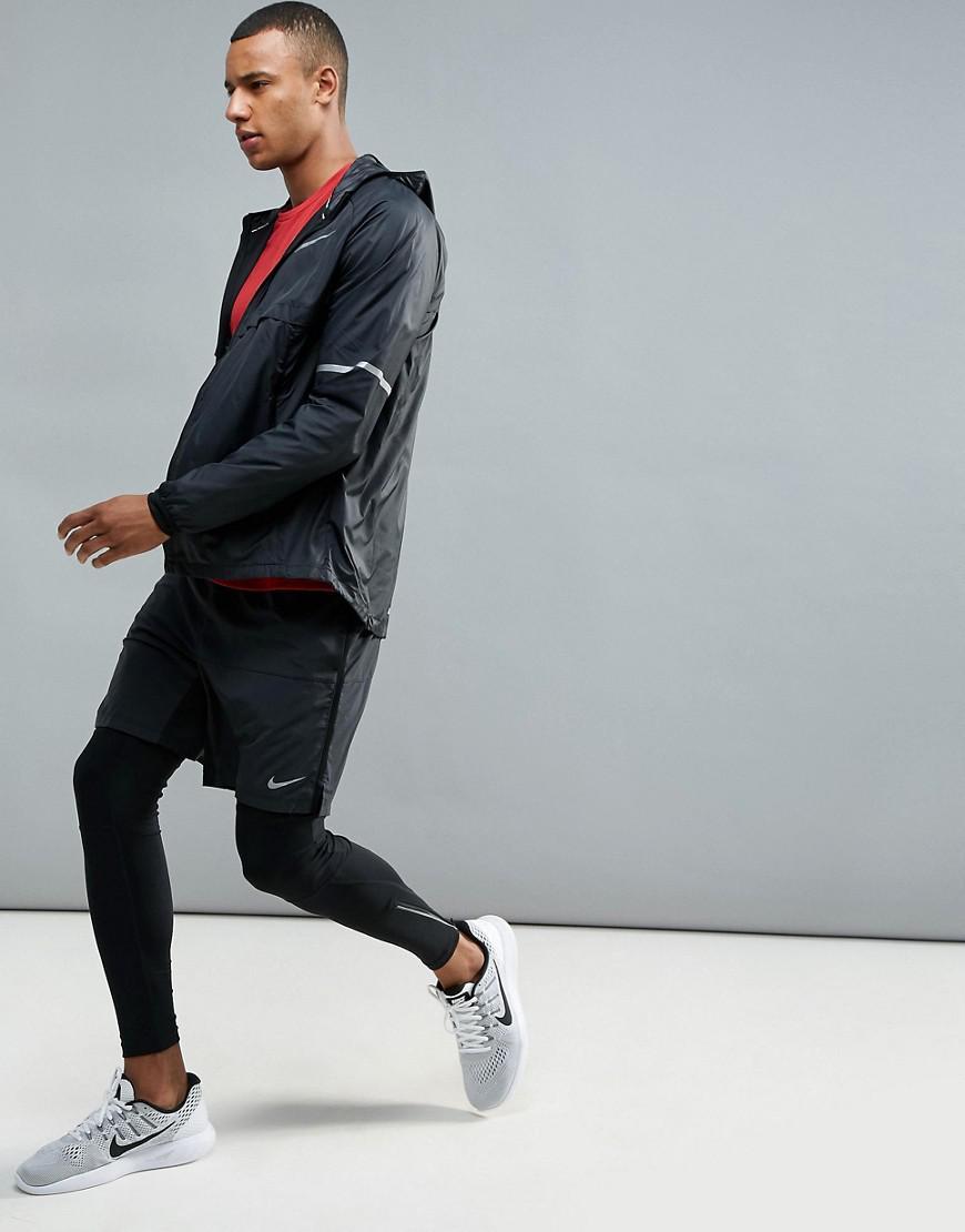 Nike Running Shield Jacket In Black