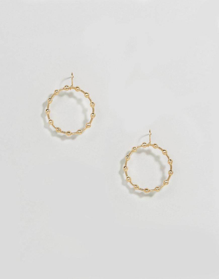 asos fine linked ball hoop earrings