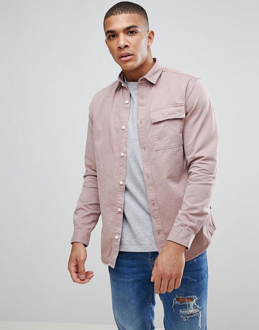 jack & jones originals overshirt in regular fit with distress detail