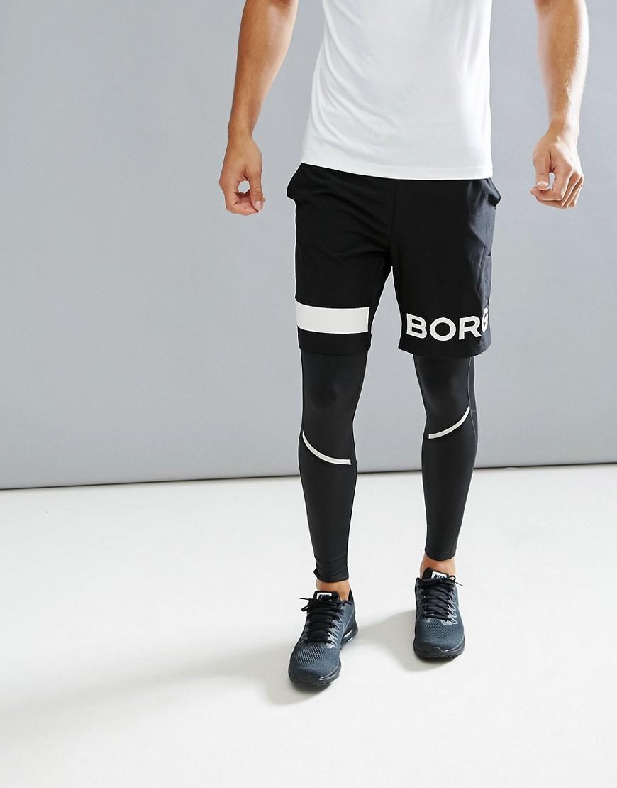 bjorn borg performance shorts in black