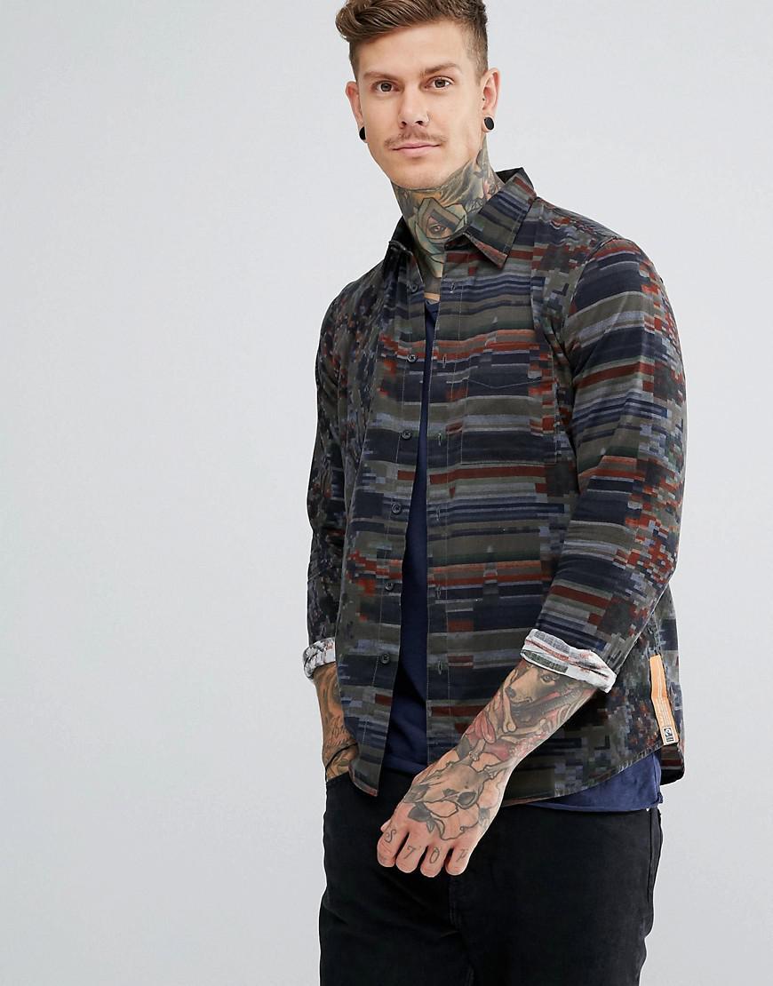 nudie jeans co sten kurbits regular fit shirt