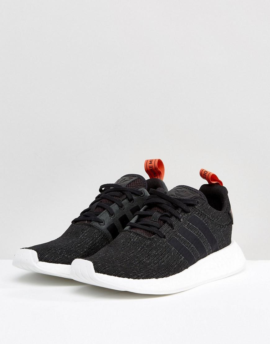 Adidas Originals Nmd R2 Sneakers In Black Cg3384