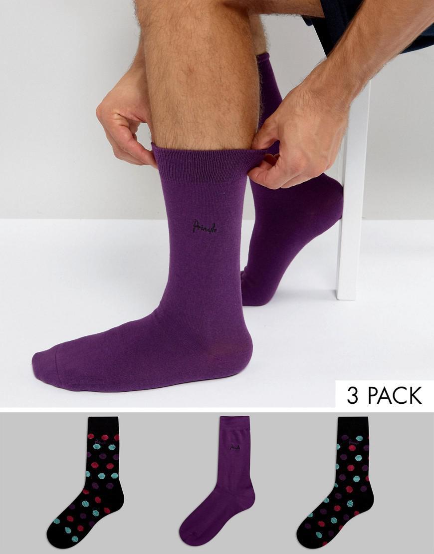pringle socks in 3 pack with spot