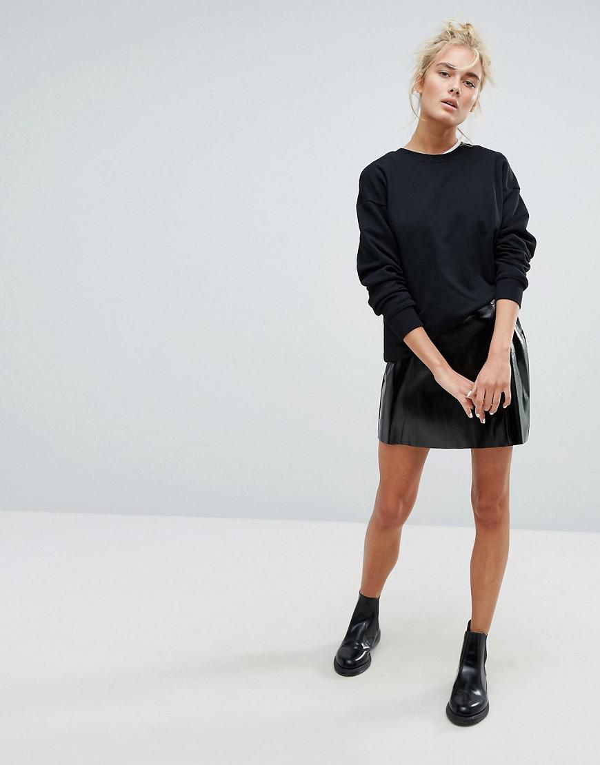 weekday vinyl wrap front skirt