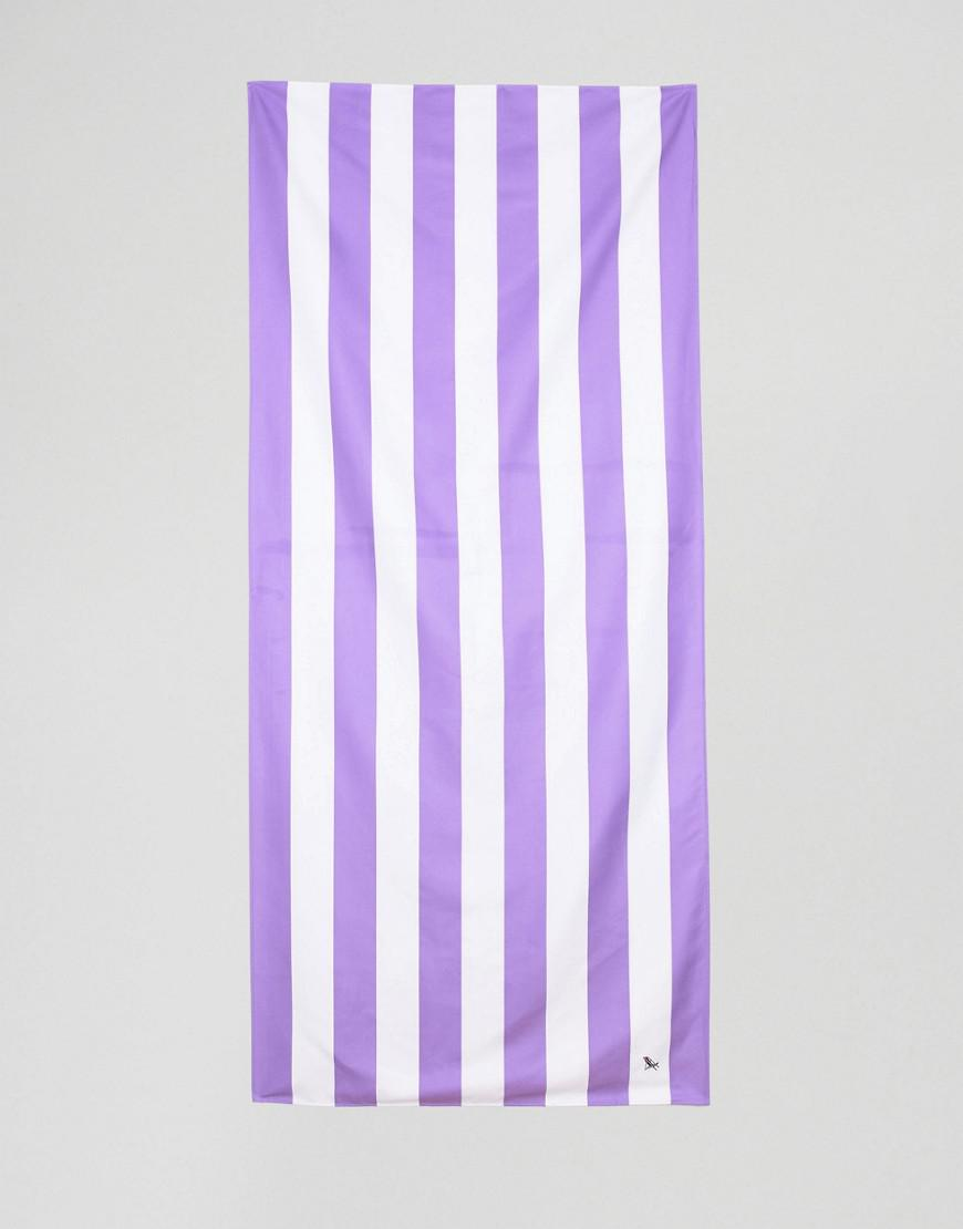 dock & bay extra large striped beach towel in purple