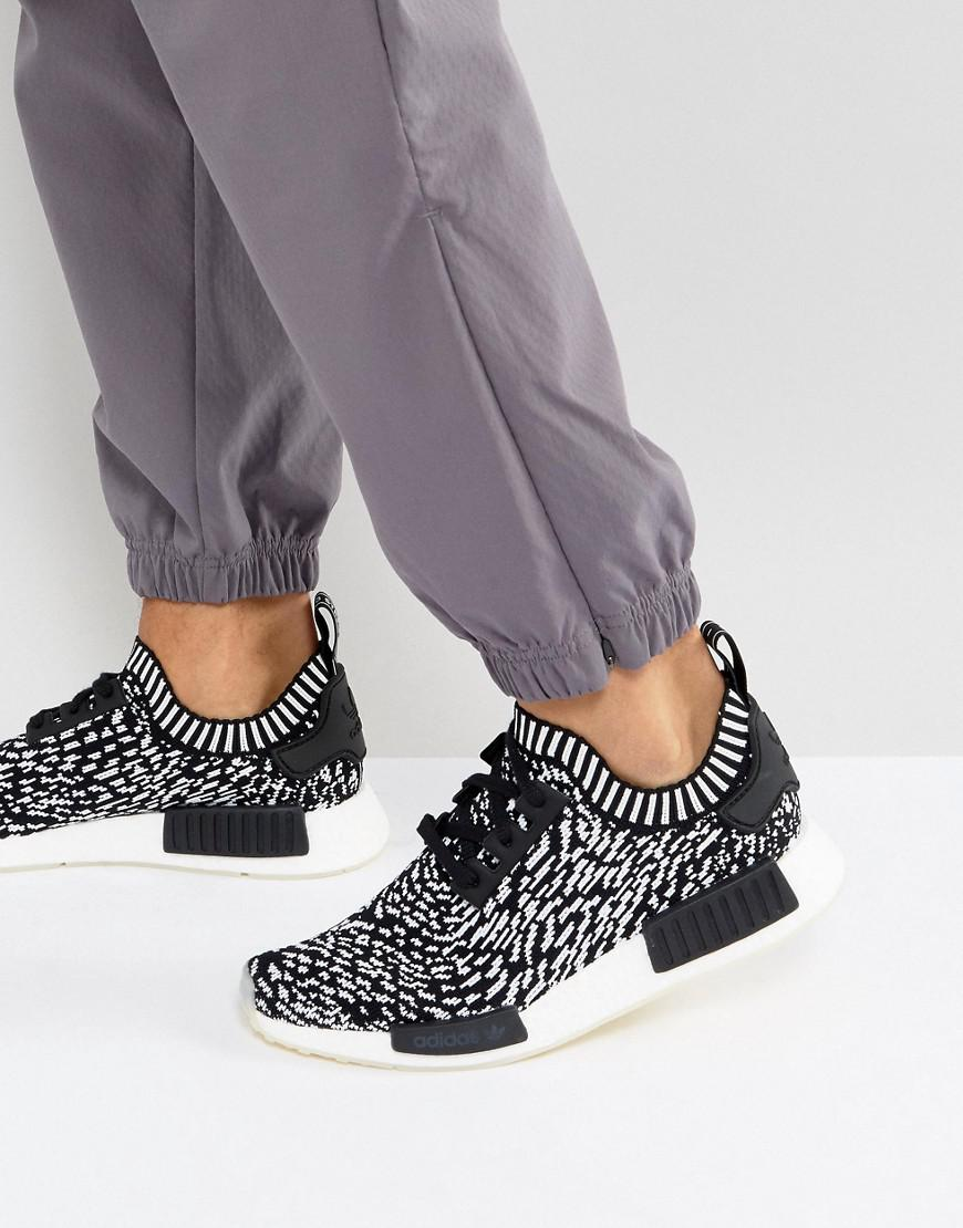 huge discount bbd27 2ff23 Adidas Originals Nmd R1 Primeknit Sneakers In Black By3013