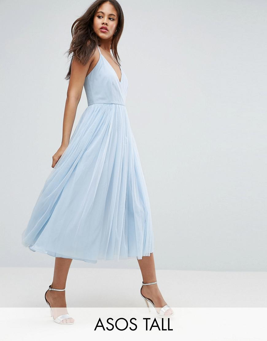 asos tall tulle midi dress
