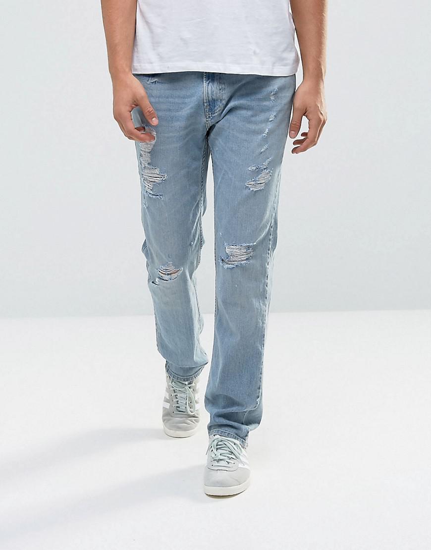 Fashion Clothing Hollister Jeans Slim Fit Destroyed