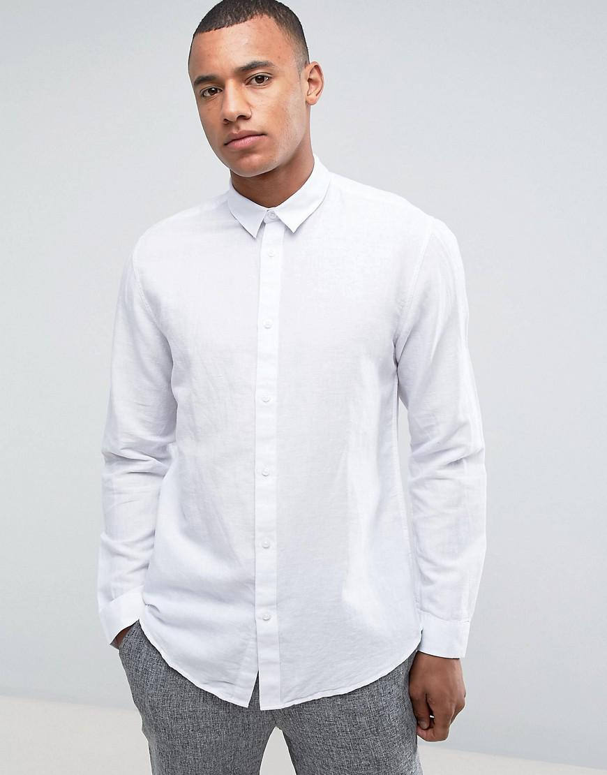 selected homme regular linen shirt