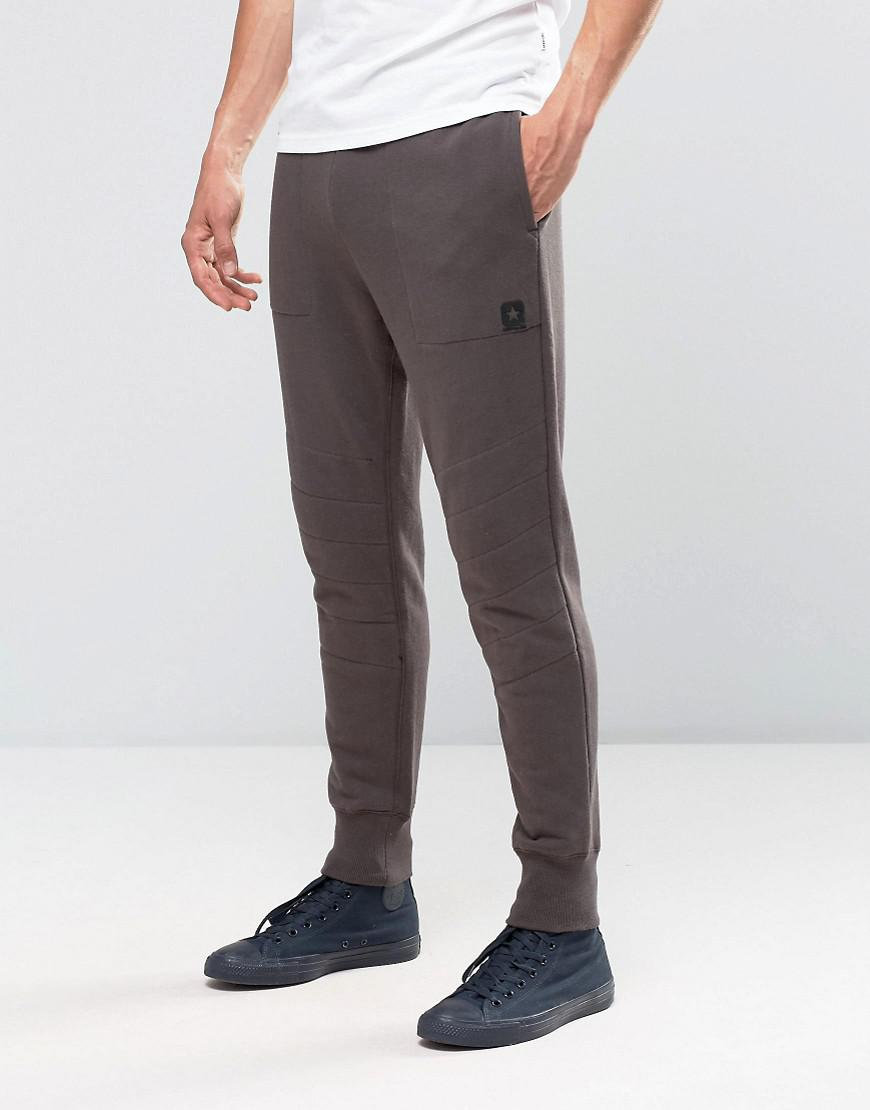 converse quilted jogger in gray 10002163-a01