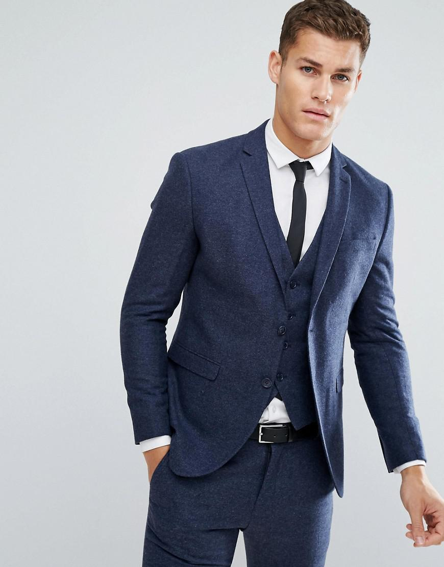 selected homme slim suit jacket in italian wool mix
