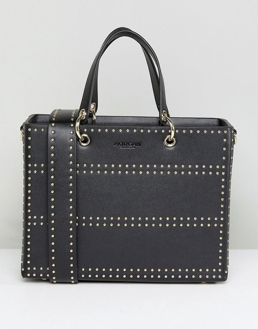 morgan studded box bag with side strap