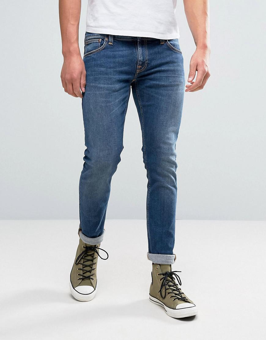 nudie jeans co long john jean television blue wash