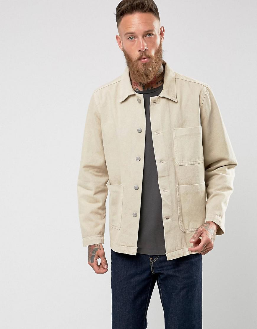 weekday generic denim jacket sand