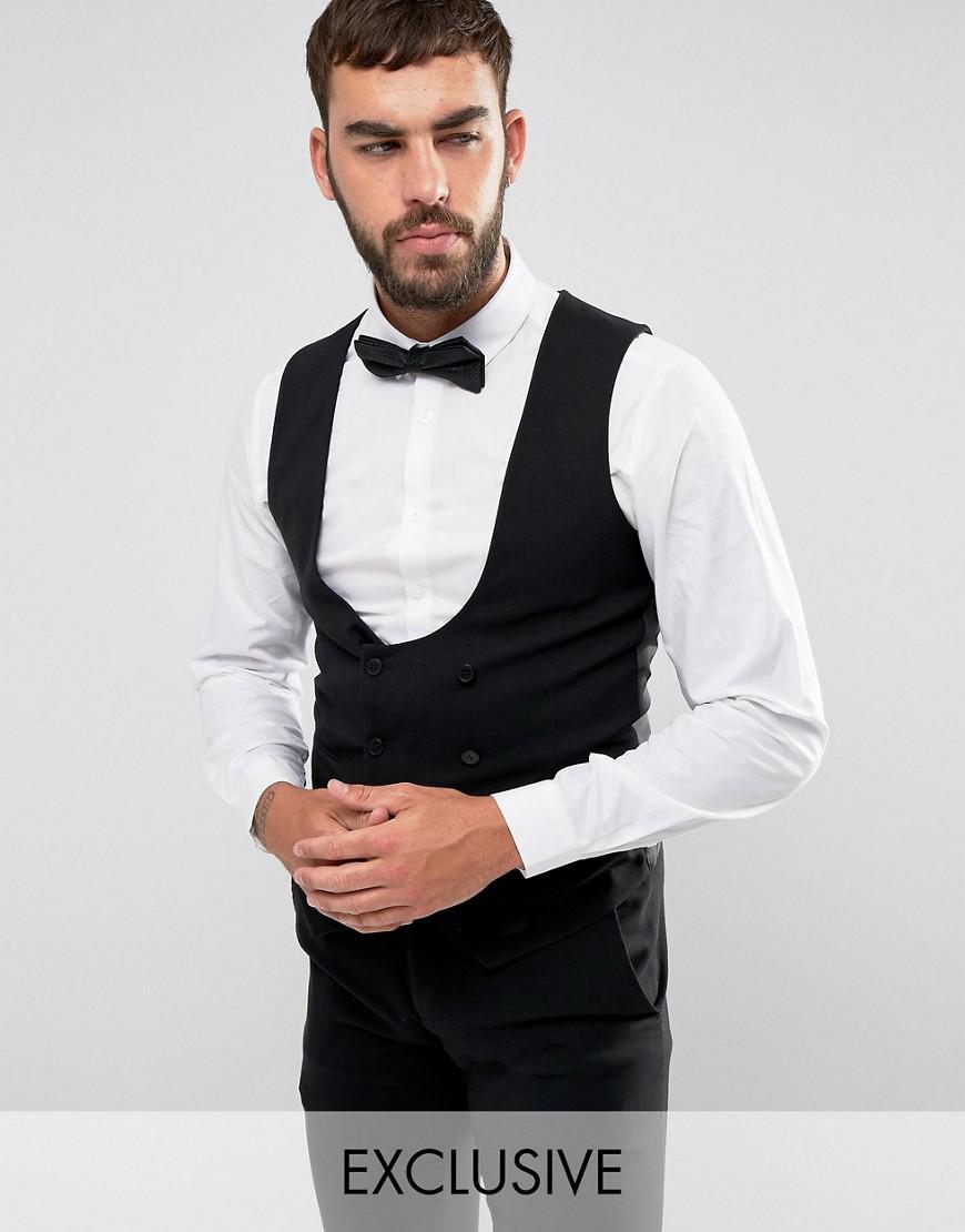 only & sons skinny tuxedo waistcoat