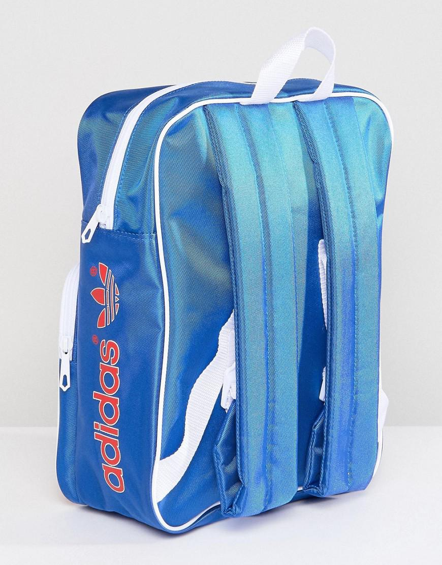 5b220656081 Fashion bags | Adidas Originals Adicolor Retro Backpack In Blue Cw2619 |  Modysta