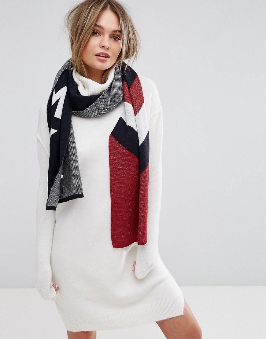 tommy hilfiger denim chevron lurex scarf