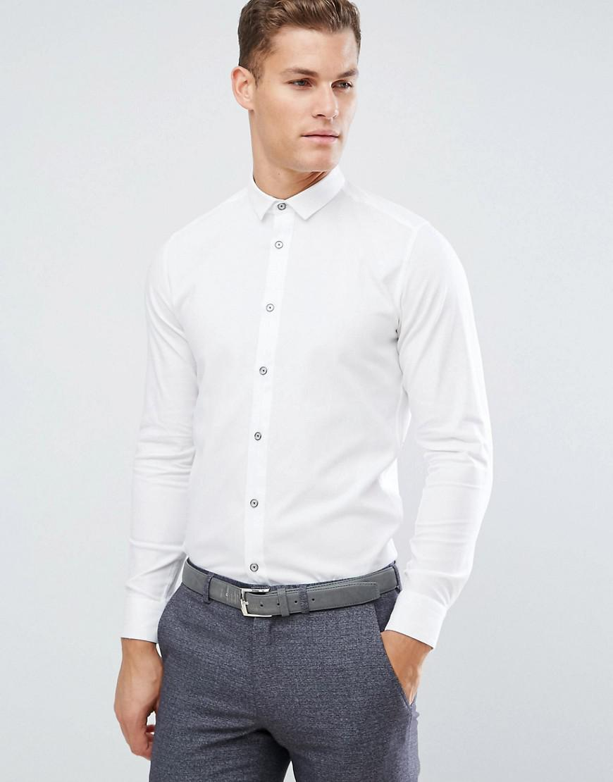 ted baker slim smart shirt in texture