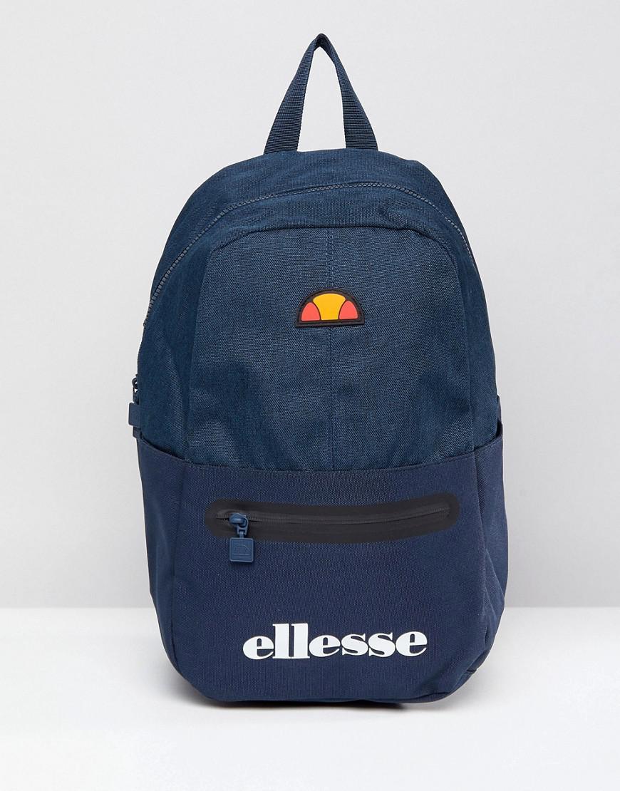 ellesse backpack with logo in navy