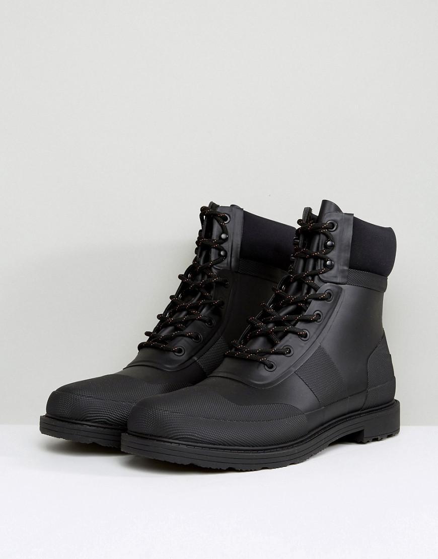68a9c38ed51 Hunter Original Commando Lace Up Boots
