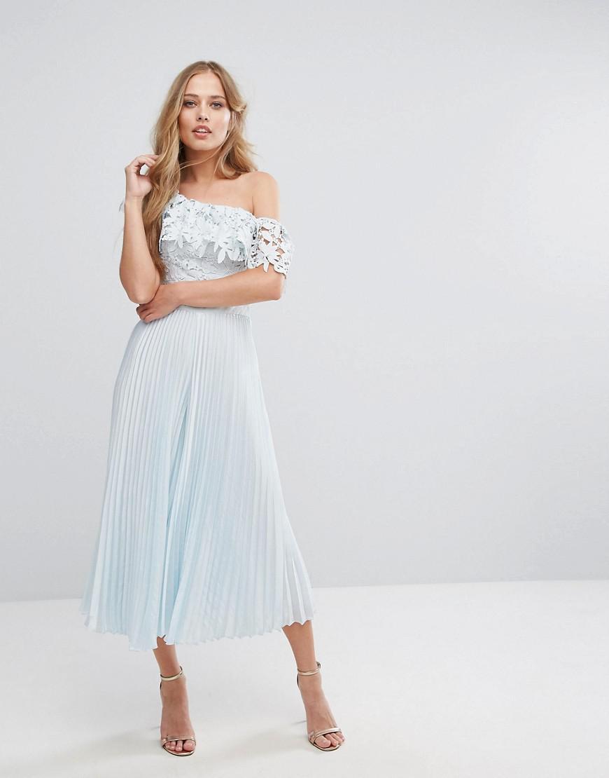 coast melinda pleated lace jumpsuit