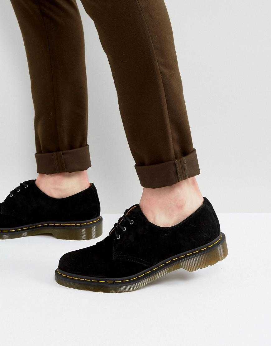 dr martens 1461 3-eye suede shoes