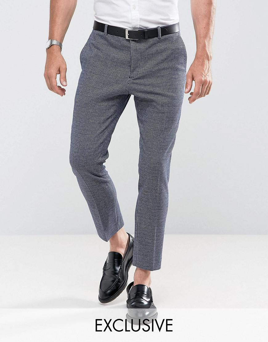 heart & dagger tapered pant in dogstooth