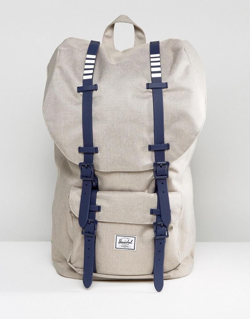 herschel supply co. little america backpack in khaki 25l