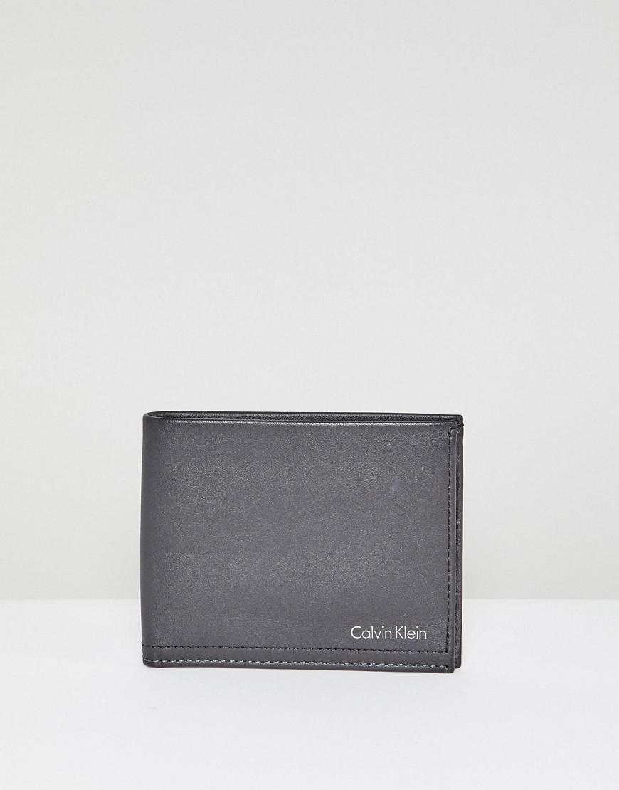 calvin klein noel wallet slimfold 6cc in leather