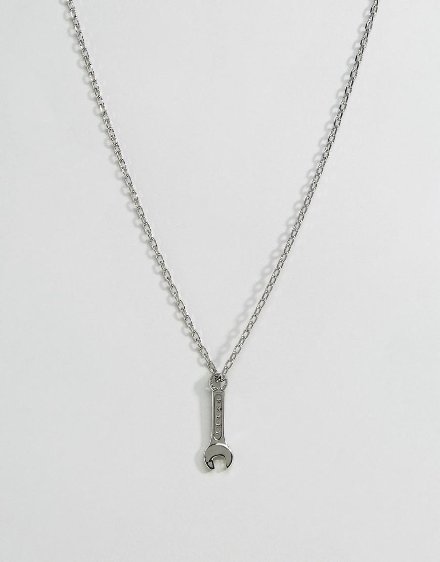 rebel heritage spanner necklace in silver