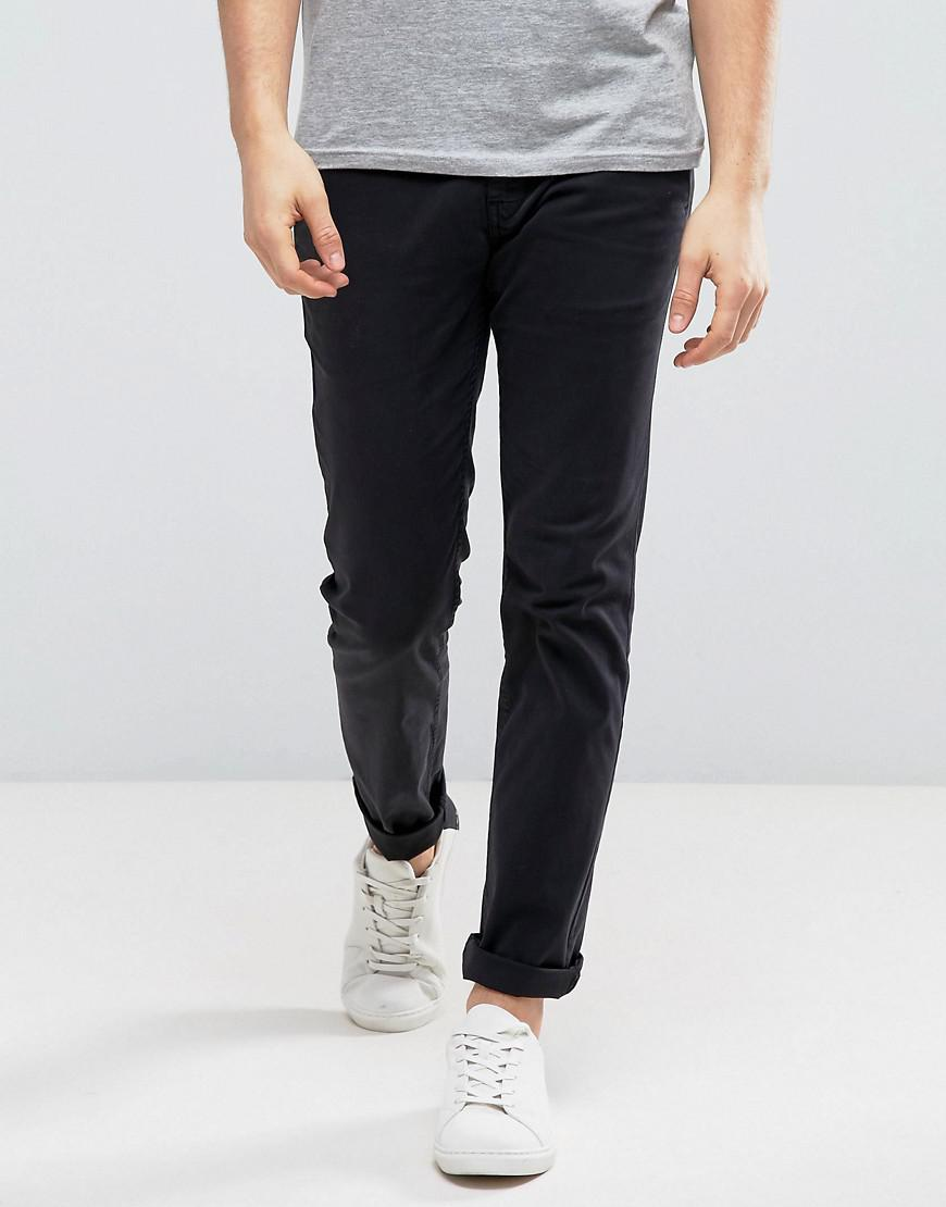 boss orange by hugo boss slim chino in black