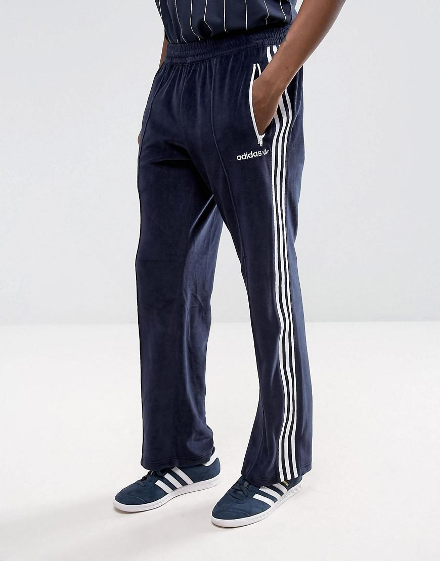 adidas originals osaka velour joggers in navy cv8960