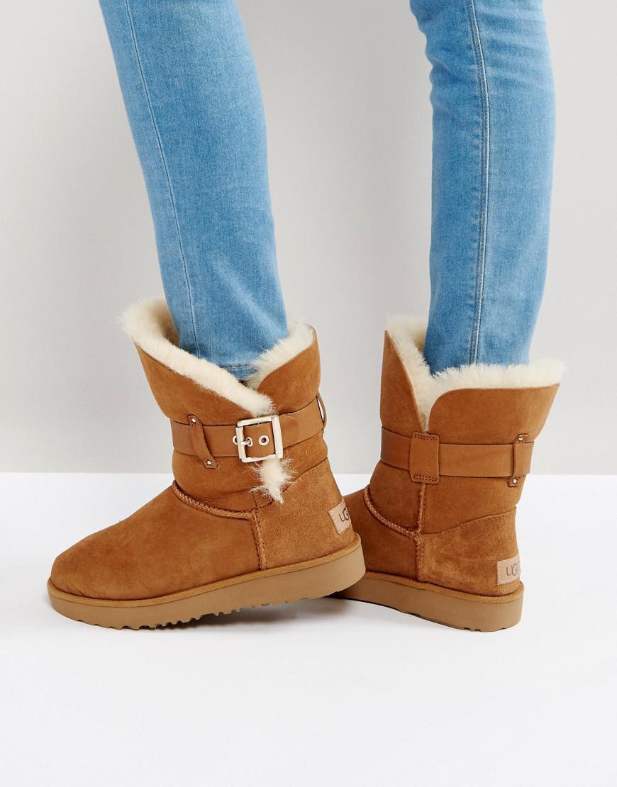 ugg jaylyn strap chestnut boots