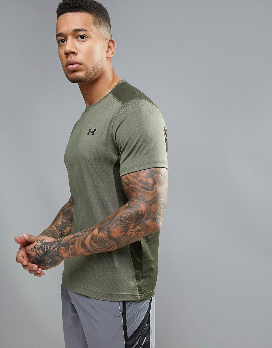 under armour training raid jacquard t-shirt in green 1294215-330