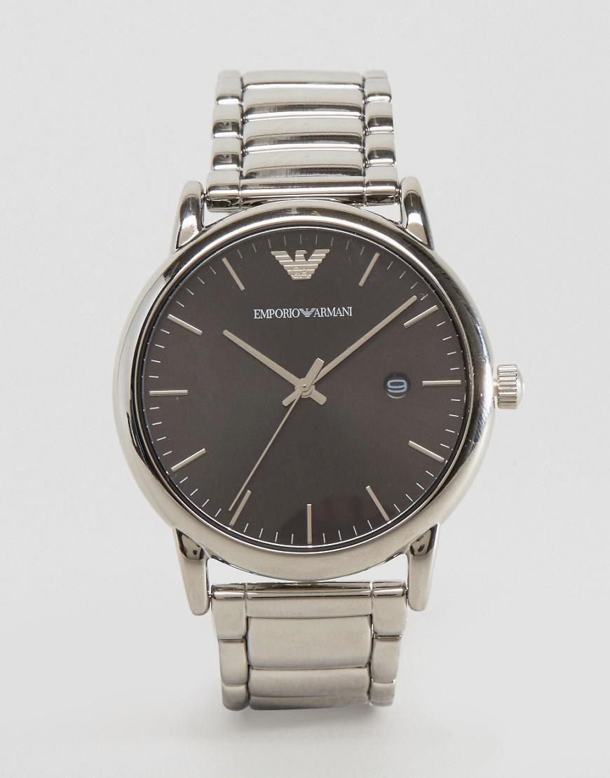 emporio armani slim bracelet watch in stainless steel ar2499
