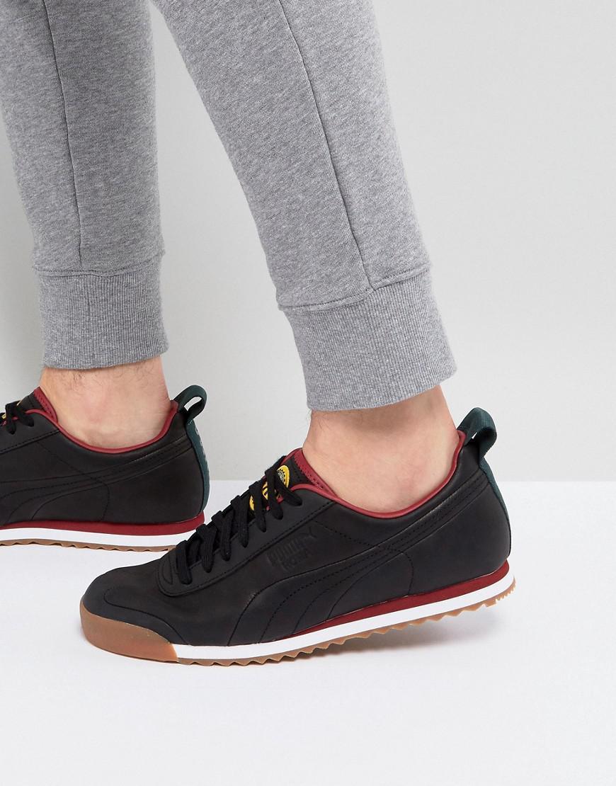 883b87e0499 puma x daily paper roma leather sneakers black 36455202